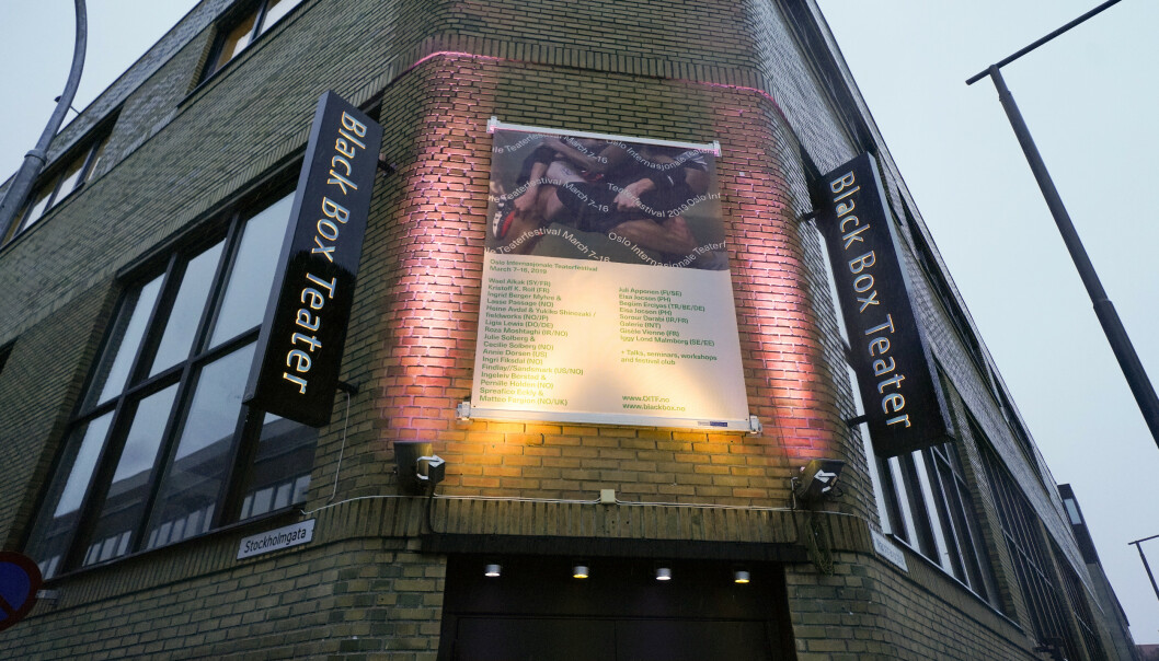 Politiet har besluttet at saken mot Black Box Teater henlegges fordi intet straffbart forhold er bevist. Foto: Fredrik Hagen / NTB scanpix