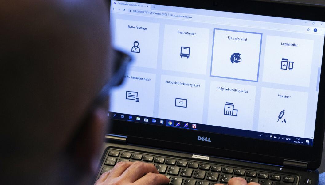 <strong>FASTLEGE PÅ NETT:</strong> Nasjonale e-helseløsninger øker kraftig i bruk. Foto: Gorm Kallestad/NTB scanpix