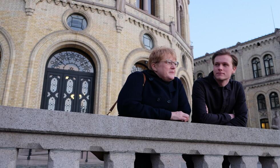 SLÅR TILBAKE: - Klimastreiken viser en kraft i unge folk, sier Unge Venstre-leder Sondre Hansmark. Foto: Tharald Halvorsen / Dagbladet