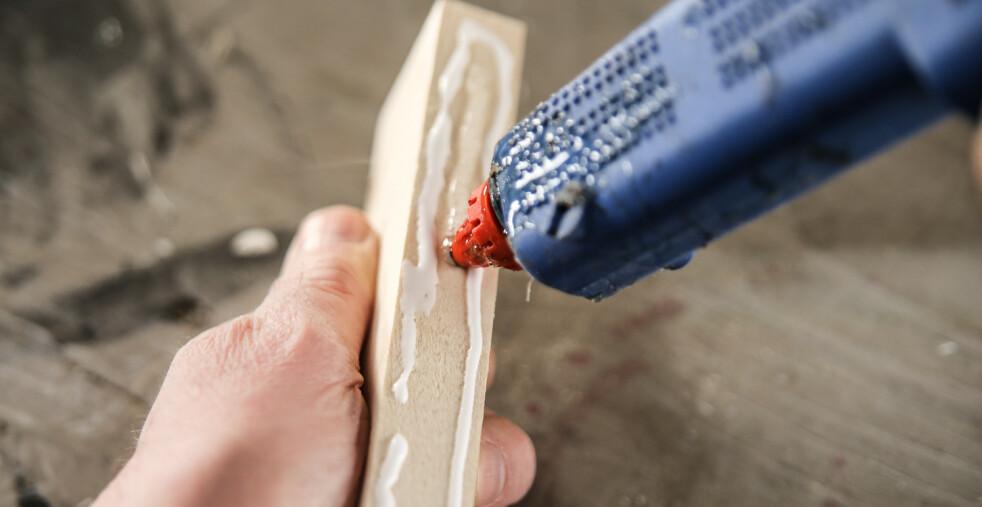 Bra kombo. Smeltelim og trelim gjør hver sin oppgave. Foto: Øivind Lie-Jacobsen