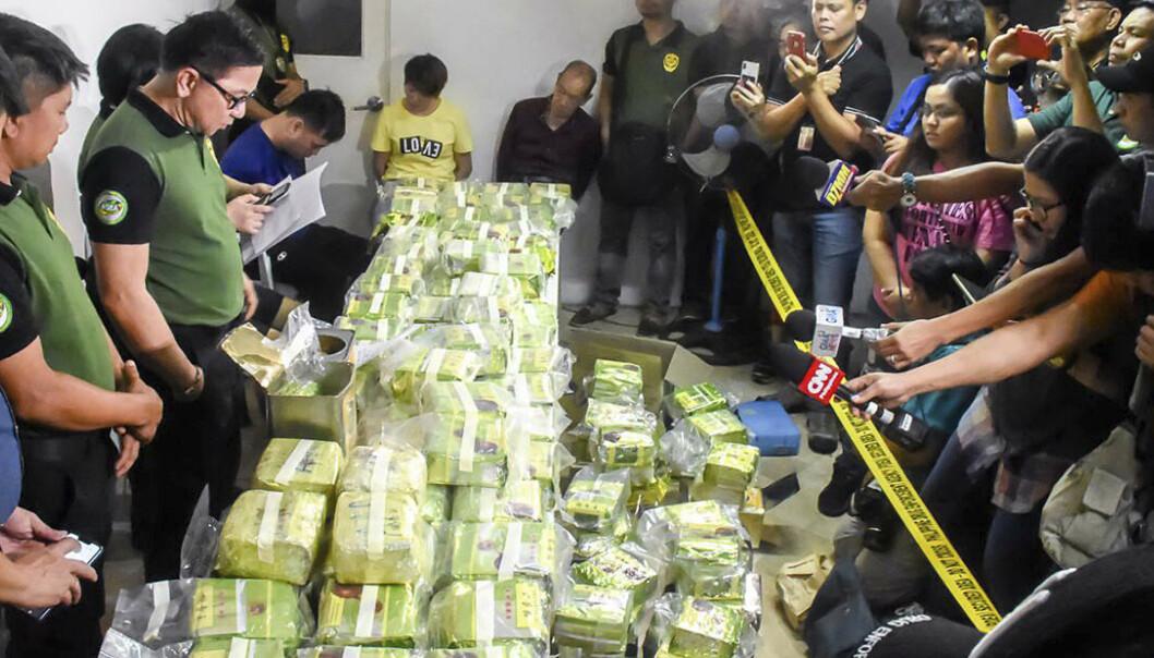 Metamfetamin gjemt i te og kjeks i Filippinene