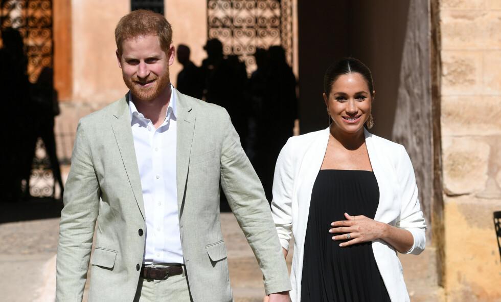 NAVNESTRID: Selv om prins Harry og hertuginne Meghan sikkert har bestemt seg for hva barnet deres skal hete for lengst, har ikke det stoppet ivrige entusiaster fra å gjette vilt - med store penger i potten. Foto: NTB scanpix