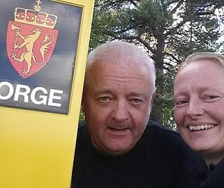 GRENSA: Det var som grenseinspektør Trine Hamran ble kjent med Frode Berg. Foto: Privat