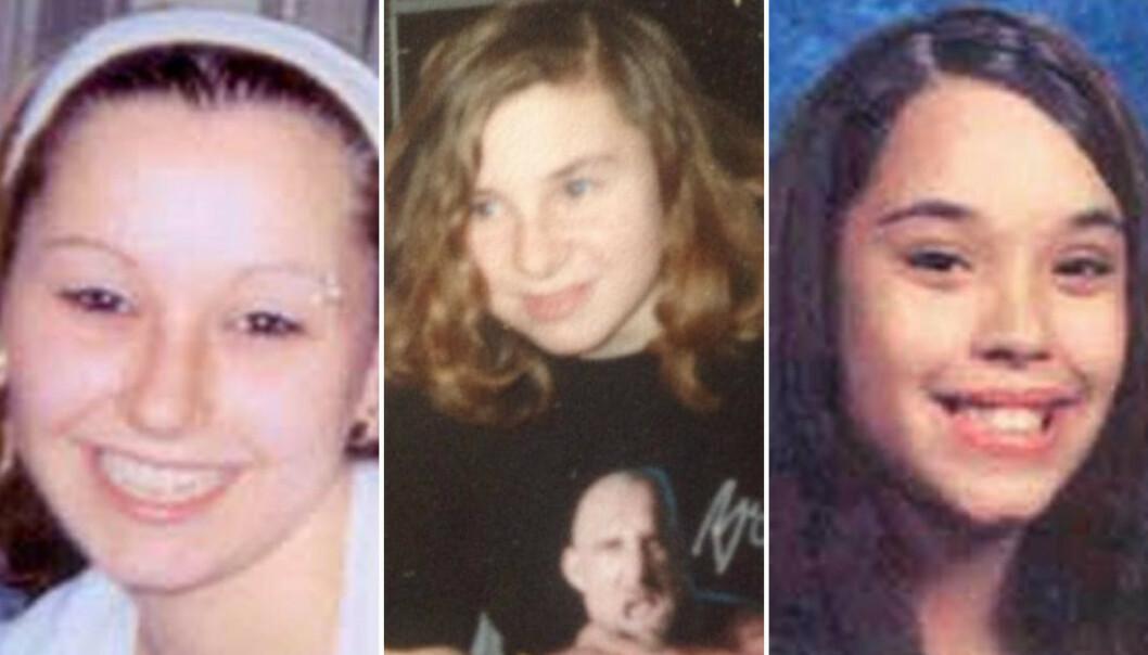 LED SAMMEN: Amanda Berry, Michelle Knight og Georgina «Gina» DeJesus avbildet før de ble kidnappet av Ariel Castro. FOTO: Scanpix