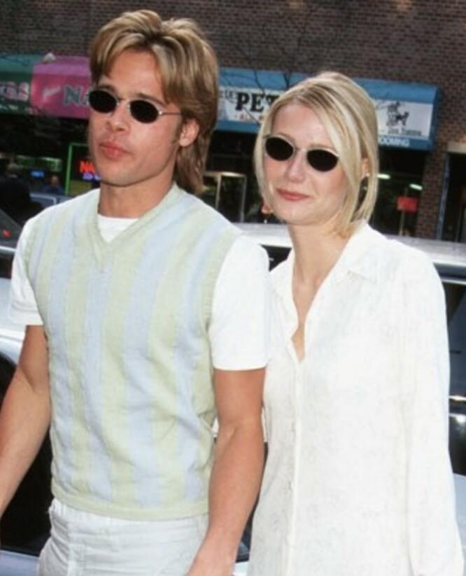 MATCH: Det var match både på kjærlighets- og stilfronten mellom Brad Pitt og skuespillerkollega Gwyneth Paltrow. FOTO: Twitter