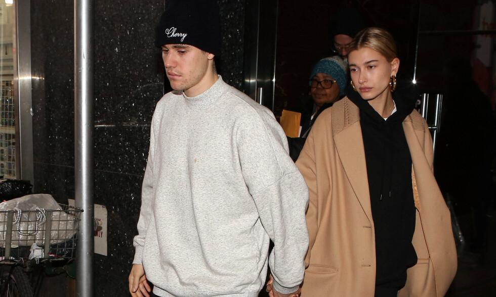 FRUSTRERT: Hailey Baldwin har sett seg lei på all den negative oppmerksomheten fra fansen til ektemannen, Justin Bieber. Foto: NTB scanpix