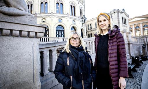 LOVENDRING: Jenny Kjønnås i RiO og Ap-politiker Elise Bjørnebekk-Waagen vil endre krisesenterloven. Foto: Nina Hansen /Dagbladet
