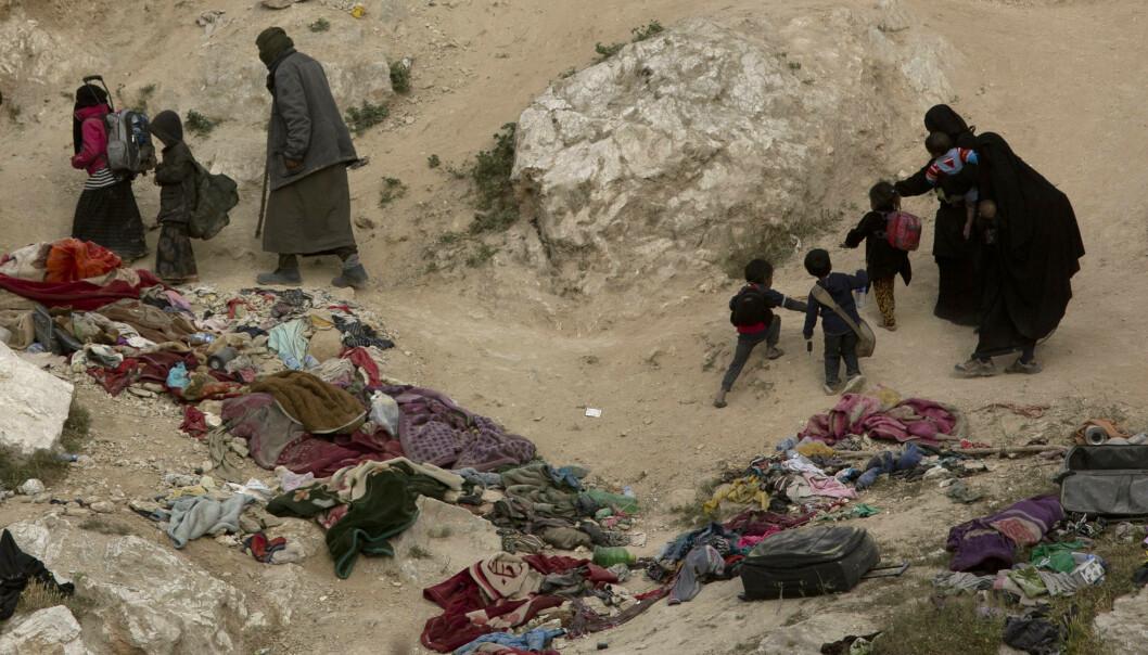 <strong>KAMP MOT IS:</strong> Blant de drepte er 209 barn og 157 kvinner, viser opptellingen fra Syrian Observatory for Human Rights (SOHR) lørdag. Foto: Maya Alleruzzo/AP/NTB Scanpix.
