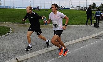 <strong>- ALDRI IGJEN:</strong> - Aldri igjen, sa Håkansson etter han fikk ødelagt et maratonløp av intertrigo. Foto: Privat.