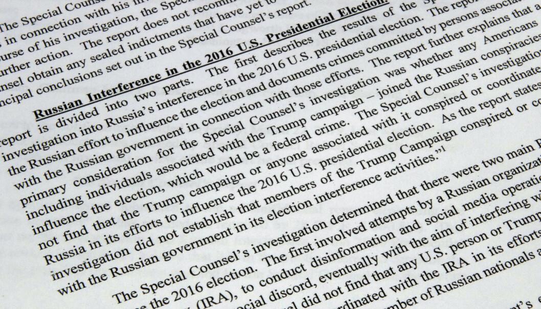 Russland: – Resultatet av Muellers etterforskning er en skam for USA
