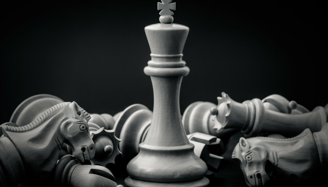 SJAKK HAR EKSISTERT I MANGE HUNDRE ÅR: Mennesker har spilt sjakk siden 600-tallet. Foto: Kerdkanno / Shutterstock / NTB scanpix.