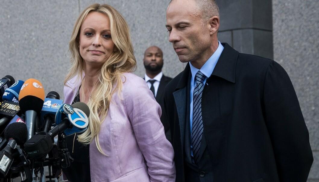 Avenatti representerer blant andre pornoskuespilleren Stormy Daniels. Hun hevder å ha hatt sex med Donald Trump i 2006. Foto: Teresa Crawford / AP / NTB scanpix