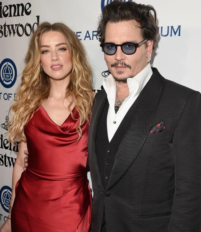 <strong>TO SIDER AV SAKEN:</strong> Amber Heard separerte seg fra Johnny Depp i 2016 og påsto senere at han hadde vært voldelig – tre år senere gikk Depp til motsøksmål og anklaget Amber for det samme. FOTO: Scanpix