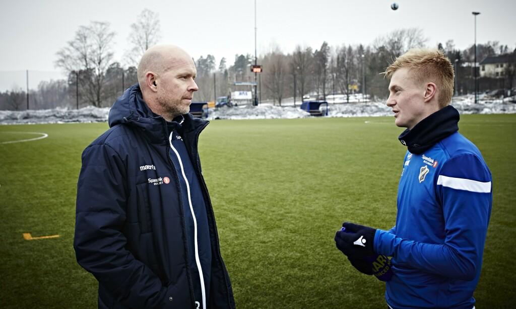 UNGDOMSLØFTET: -Når så mange gode spillere fra samme årskull trener sammen hver dag, vil kvaliteten bli bedre enn hvis det bare var en eller to av dem, sier Stabæk-trener Henning Berg om Aga og de andre unggutta på laget.