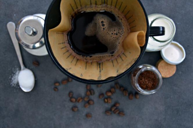 - Styr unna brune kaffefilter