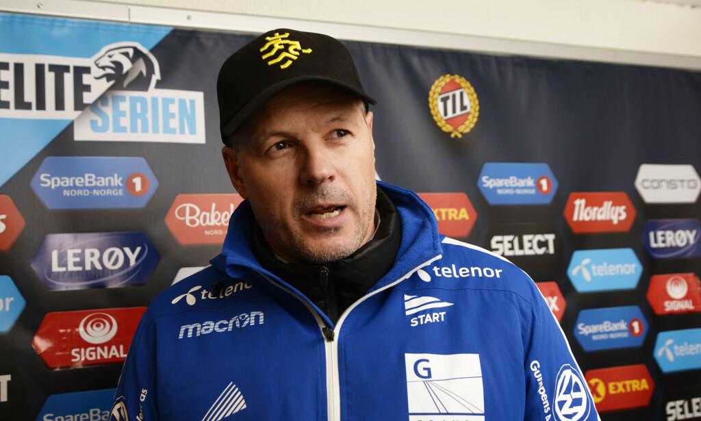 Kjetil Rekdal etter kampen mellom Tromsø og Start på Alfheim Stadion i oktober i fjor. Foto: Rune Stoltz Bertinussen / NTB scanpix