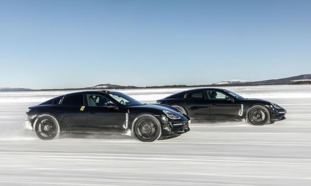image: Vi ble med på vintertest av Porsche Taycan