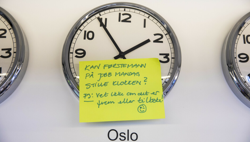 SOMMERTID OG VINTERTID: Til helgen er det igjen tid for å stille klokka. Foto: Ole Berg-Rusten / NTB Scanpix.