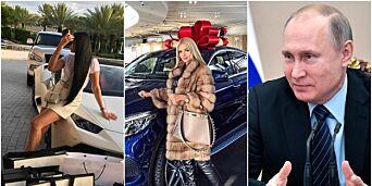 image: Urinerer på kontanter. De rike russerne på Instagram provoserer Putin