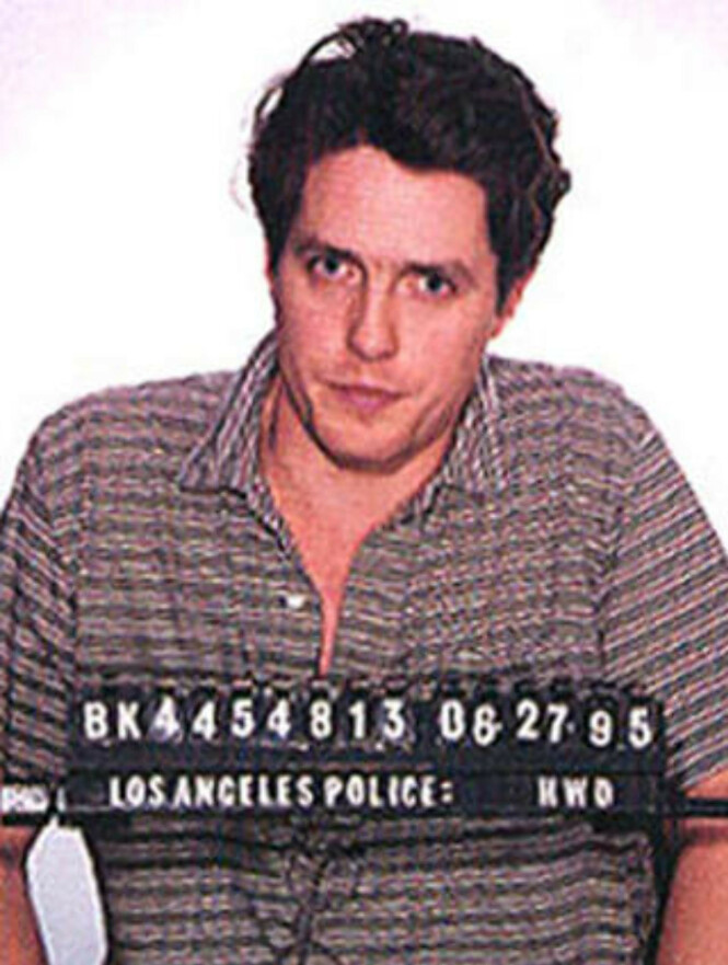 TATT MED BUKSA NEDE: Hugh Grant ble arrestert med en prostituert i 1995. Foto: STELLA PICTURES