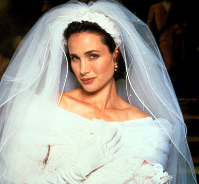 SUKSESS: Andie MacDowell ble for alvor kjent etter sin rolle som Carrie i den romantiske komedien fra 1994. Foto: NTB Scanpix