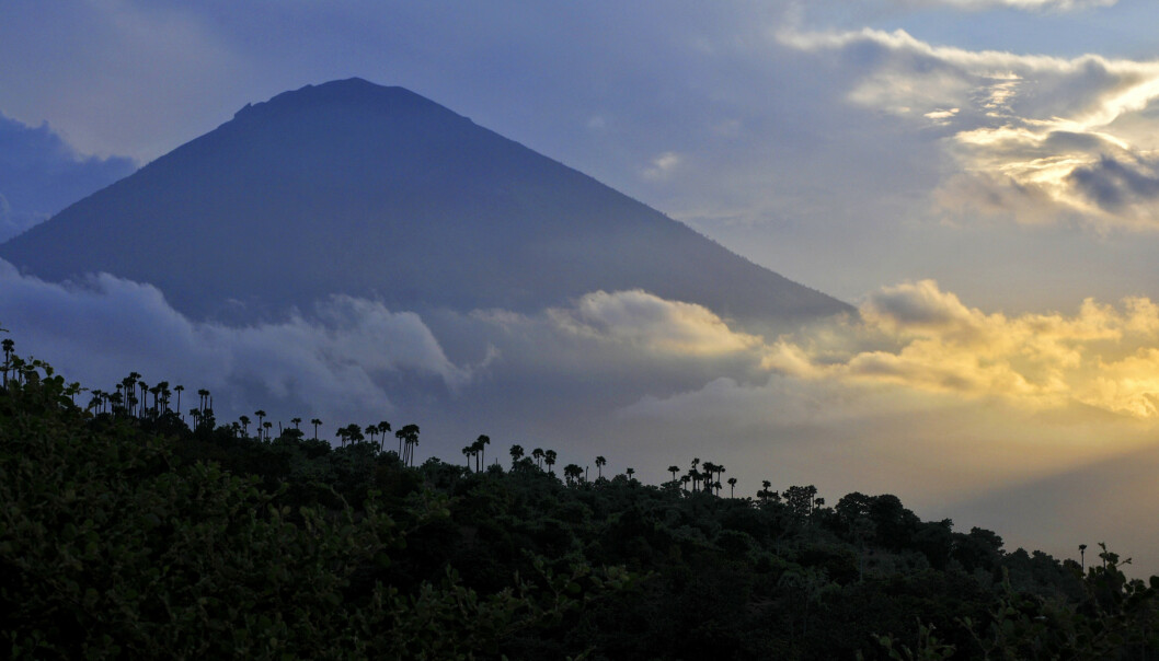Vulkanen Gunung Agung i Bali, Indonesia. Foto: NTB Scanpix