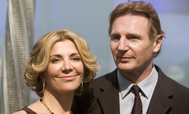 <strong>MISTET KONA:</strong> Natasha Richardson og Liam Neeson giftet seg i 1994. Som ektepar fikk de 15 år sammen og to barn, før Richardson døde i 2009, ett år etter at dette bildet ble tatt. Foto: NTB Scanpix