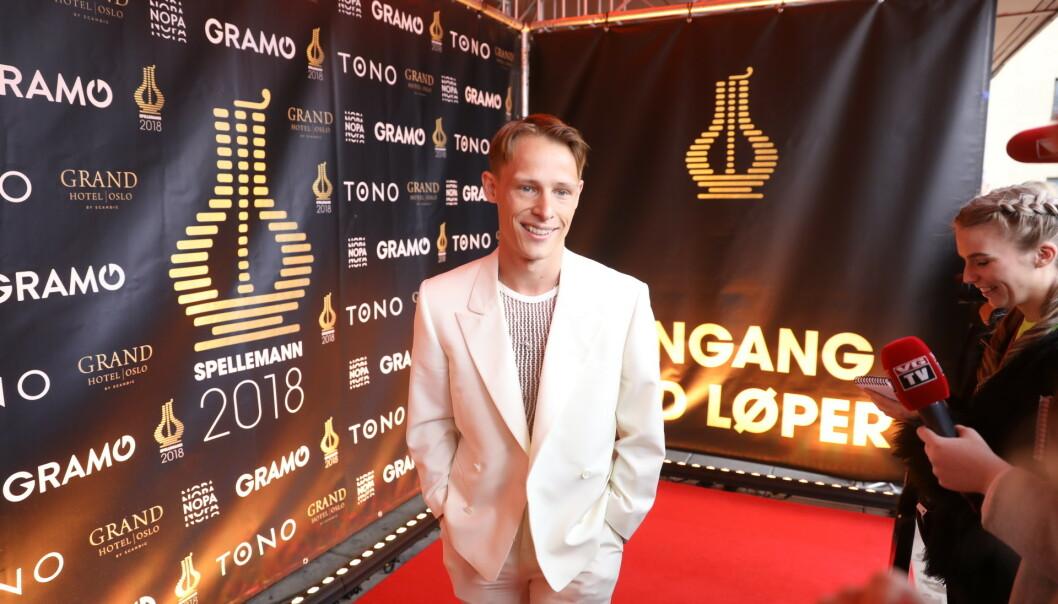 KLAR FOR KVELDEN: Artist Sondre Justad gleder seg stort til kveldens prisutdeling. Foto: Christian Roth Christensen/ Dagbladet