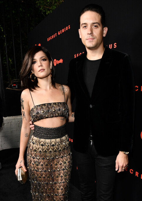 AIR-AND-ON: Halsey and G-Eazy came to an end in July last year but they got it again again before he finished. Photo: NTB Scanpix