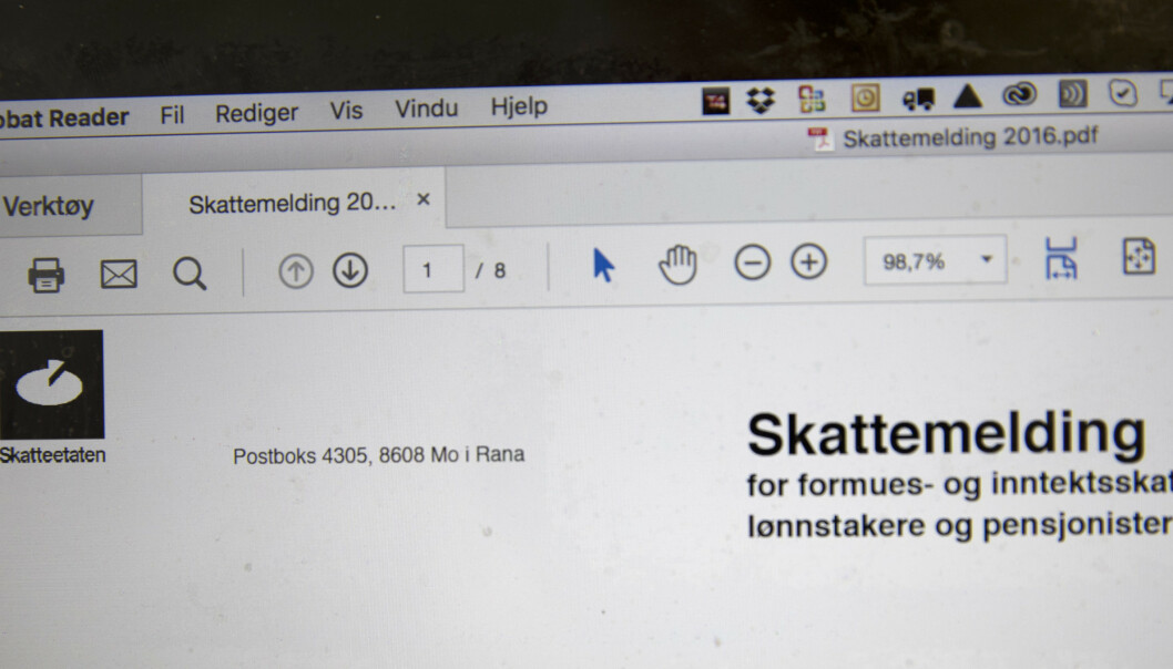 Skatteetaten advarer mot svindlere. Foto: Terje Bendiksby / NTB scanpix
