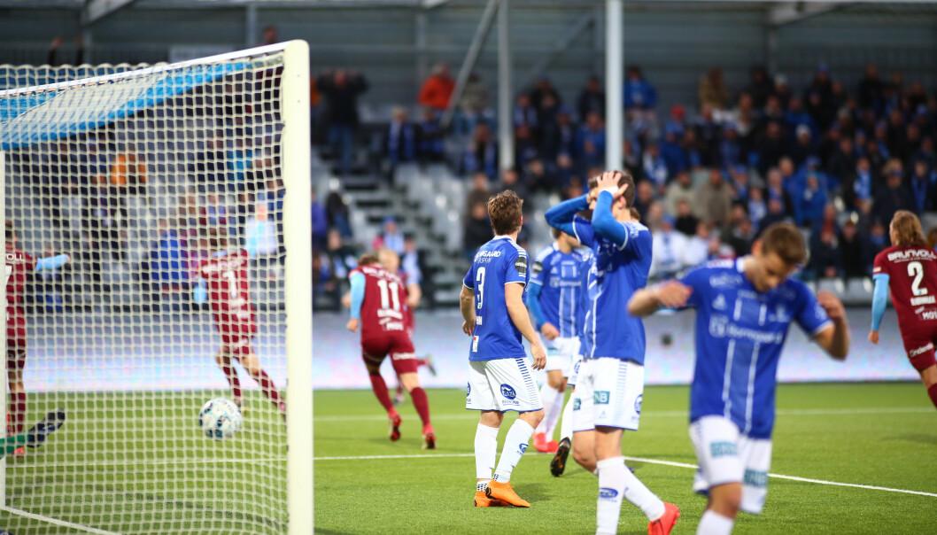 1-1: Moldes Magnus Wolff Eikrem utligner til 1-1 i kampen mellom Sarpsborg08 og Molde Foto: Christoffer Andersen / NTB scanpix