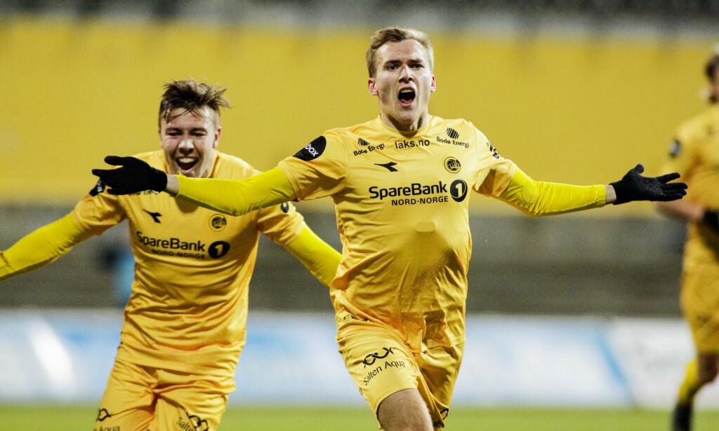 Bodø/Glimt og Rosenborg på Aspmyra stadion søndag kveld. Foto: Mats Torbergsen / NTB scanpix