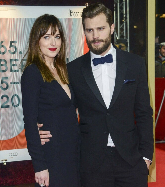 NÆRE VENNER: Dakota og Jamie har blitt svært gode venner etter å ha spilt i «Fifty Shades»-filmene sammen. Her sammen i 2015. Foto; NTB Scanpix