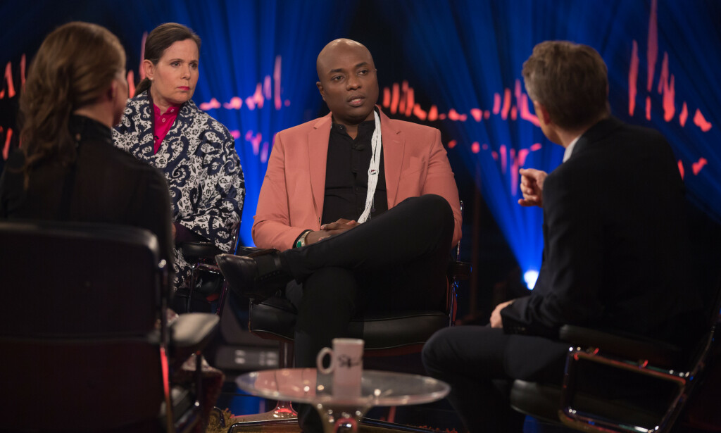 RASER: Shaman Shaman Durek is tough on the result of Skavlan for the way he is presented in the interview. Photo: TV 2