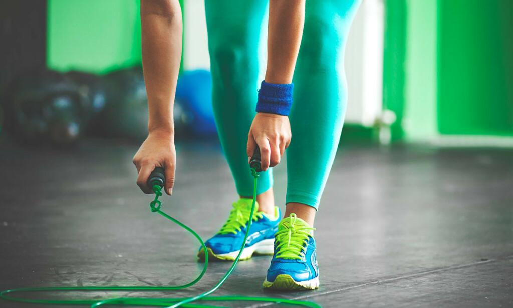 LEKKER VED AKTIVITET: Hopping og løping er en aktivitet som kan medføre lekkasje ved stressinkontinens. Det finnes behandling - ikke la stressinkontinens hindre deg for å være aktiv. Foto: NTB Scanpix/Shutterstock