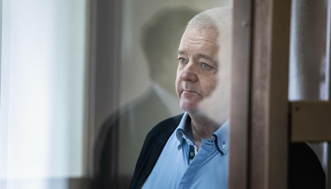 Spiontiltalte Frode Berg må tilbringe nye måneder i varetekt. Dette bildet er tatt under et fengslingsmøte i fjor. Det var fotoforbud i byretten i Moskva tirsdag. Foto: Tore Meek / NTB scanpix