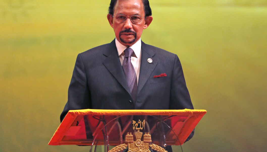 Bruneis Sultan Hassanal Bolkiah innfører sharialover. Foto: AP Photo/Vincent Thian/NTB scanpix