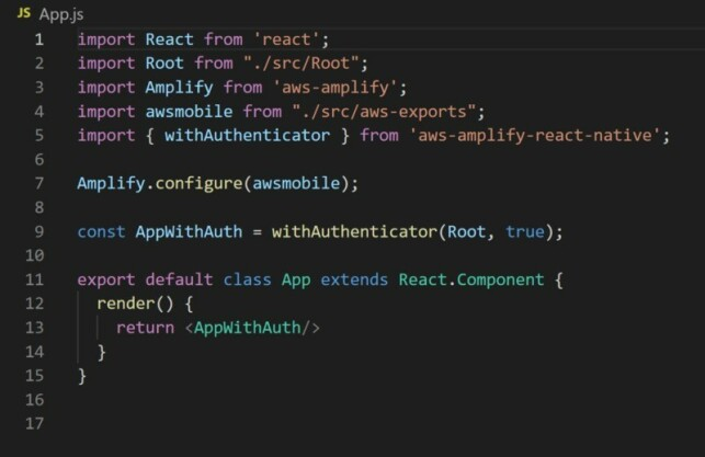 image: Making a mobile app with React Native and AWS Amplify