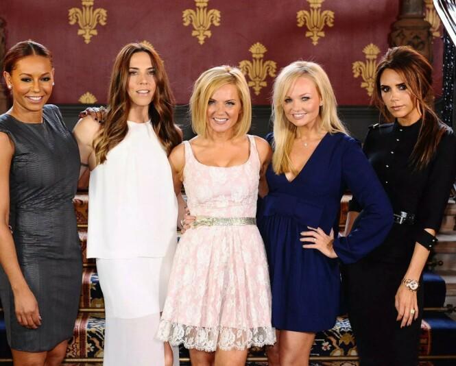 PÅ TURNÉ: Neste måned drar Spice Girls endelig ut på turné igjen. Det blir imidlertid uten Victoria Beckham. Foto: NTB Scanpix