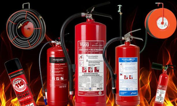 image: Skum- eller pulverslukker? Og, i hvilket rom bør du sette brannslukkeren?