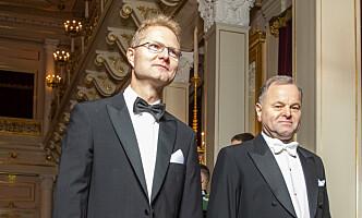 STORTINGSPOLITIKER: Tor Andre Johnsen, her med Olemic Thommessen. Foto: Håkon Mosvold Larsen / NTB scanpix