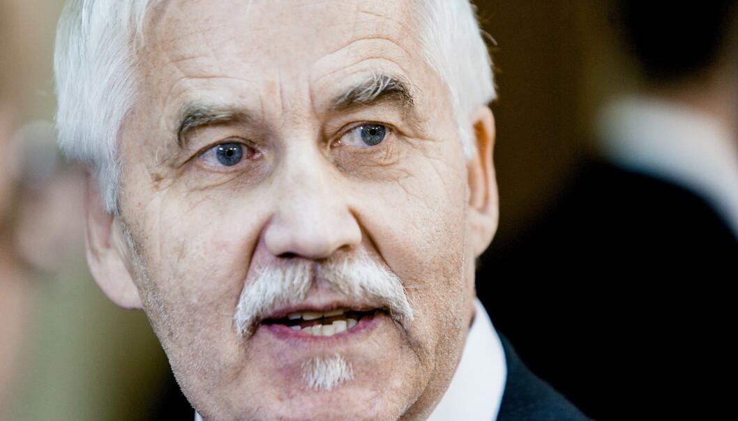 Grunnleggeren av den nynazistiske organisasjonen Vigrid, Tore Tvedt, er nok en gang tiltalt for brudd på rasismeparagrafen. Foto: Krister Sørbø / NTB scanpix