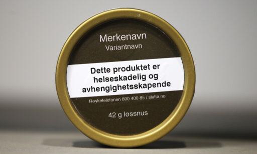 image: Ingen forbud mot smakstilsetninger i snus