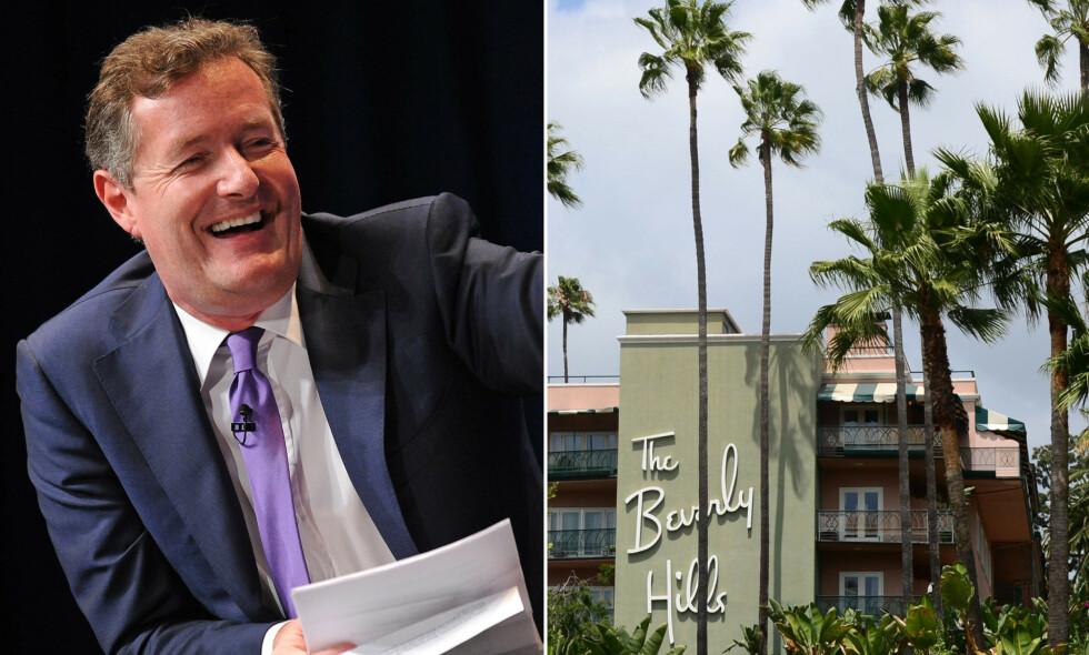 OPPFORDRER TIL HOTELL-SEX: Piers Morgan er ikke enig i kampanjen om å boikotte Brunei-hotellene. Han har et annet forslag. Foto: NTB Scanpix