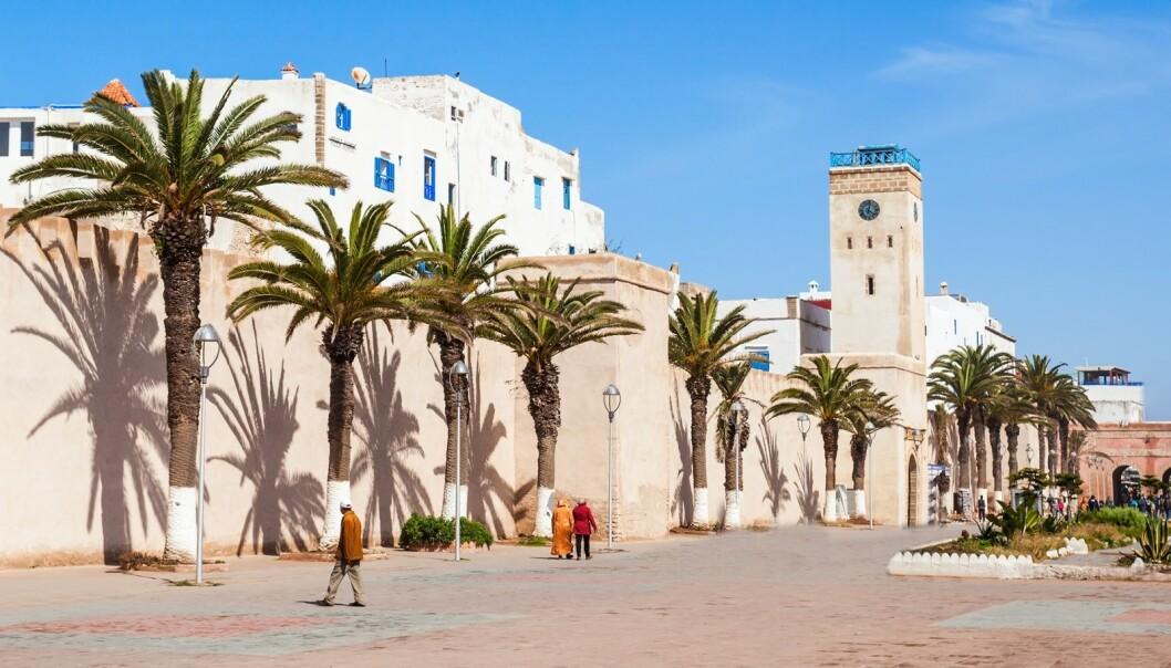 ESSAOUIRA: Bygningene i Essaouira er som hentet ut fra Torbjørn Egners Kardemommeby. FOTO: NTB Scanpix