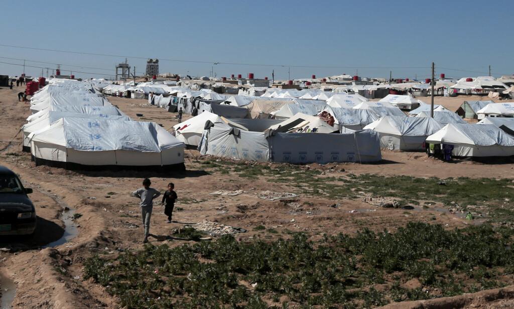 FLYKTNINGLEIR: Flere barn av IS-krigere bor nå i flyktningleir i Syria. Mange av dem er foreldreløse, som her i Hasaka. Foto: Issam Abdallah / reuters / Scanpix