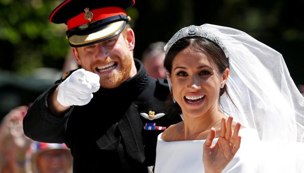 EKTEPAR: Et snaut år etter prinsebryllupet i mai i fjor, har hertugparet av Sussex fått sin egen Instagram-bruker. Foto: NTB Scanpix