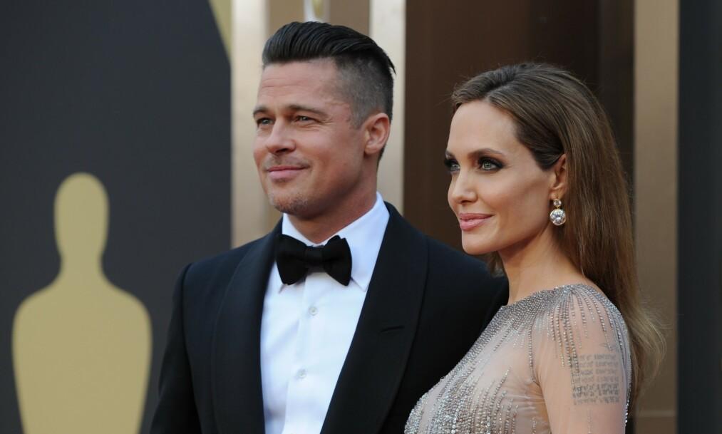 LANG KAMP: Det er snart tre år siden Brad Pitt (55) og Angelina Jolie (43) kunngjorde at de skulle skilles. Det har ikke gått helt knirkefritt. Foto: NTB Scanpix