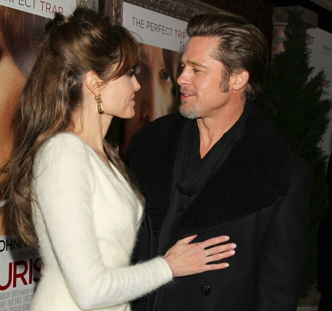 STORMFORELSKET: Brad og Angelina var et av Hollywoods heteste par mens de var sammen, og så tilsynelatende stormforelsket ut. Foto: NTB Scanpix