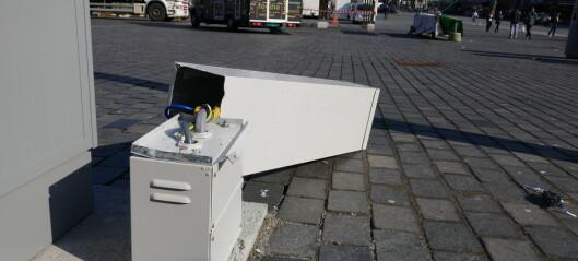 Hærverk mot ny bomstasjon i Bergen